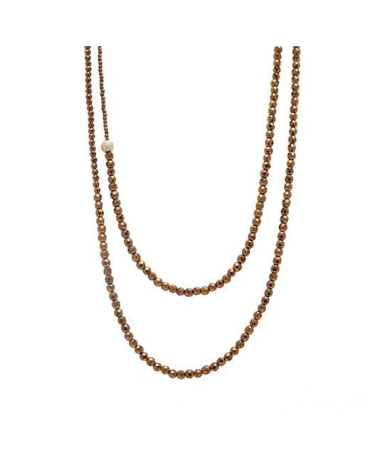 Faystone - Metallic Sun Necklace - Lyst