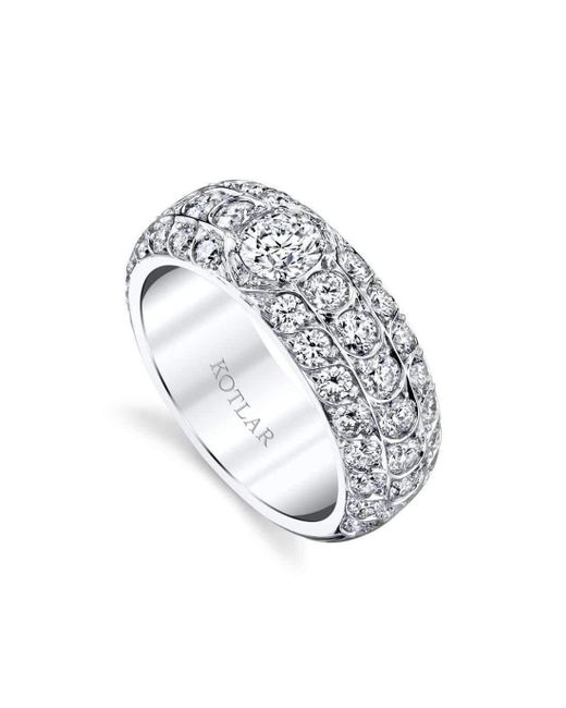 Harry Kotlar French Cut Artisan Pave Band - UK M - US 6 - EU 52 3/4