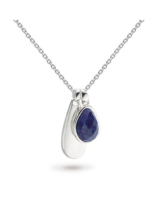 Kit Heath - Blue Coast Pebble Double Tag Lapis Lazuli Necklace - Lyst