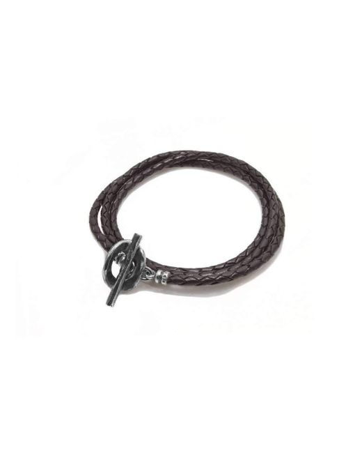 Luke Goldsmith | Chocolate Brown Leather Wrap Bracelet | Lyst