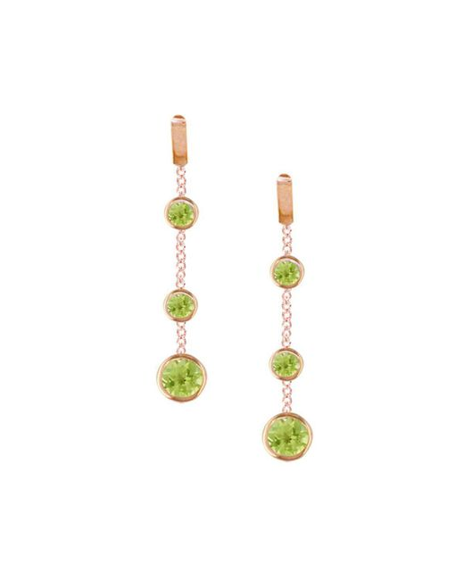 London Road Jewellery - Metallic Chic Rose Gold Peridot Dew Drop Earrings - Lyst