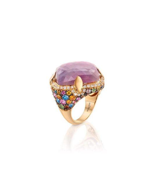 Niquesa Fine Jewellery - Venice Arlecchino Pink Sapphire Rose Gold Ring - Lyst