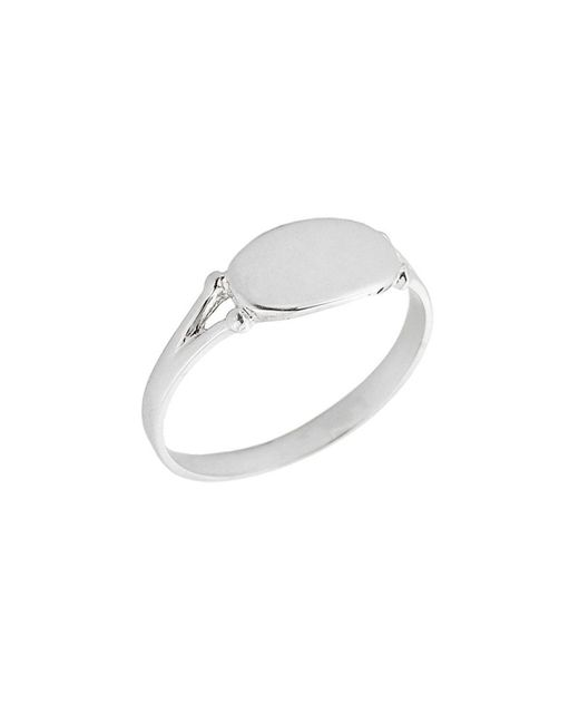 QP Jewellers - Metallic Signet Ring In Sterling Silver - Lyst