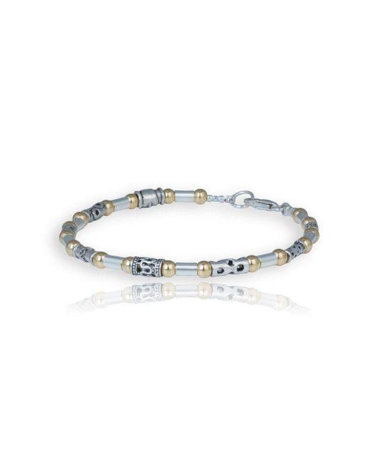 Lavan - Metallic Individual Mix Design Silver And Gold Bracelet - Lyst