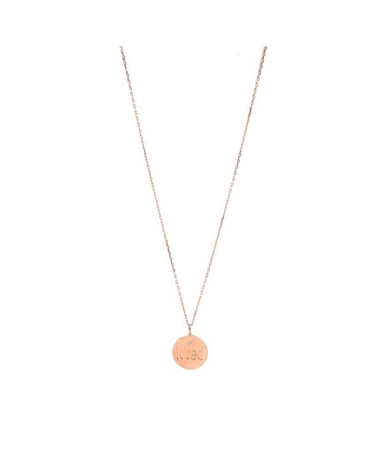 Genevieve Lau | Metallic Loved Necklace With Diamond | Lyst