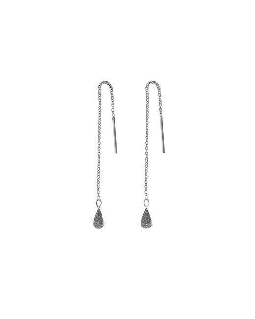 Murkani Jewellery - Metallic Sterling Silver Tear Drop Thread Earrings | - Lyst
