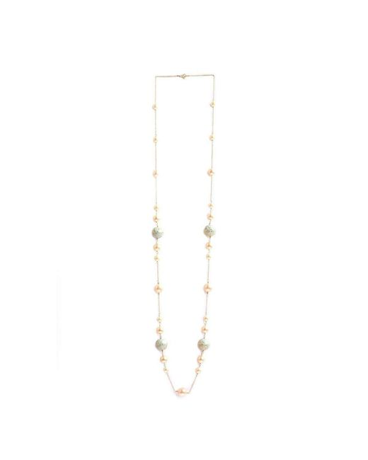 M's Gems by Mamta Valrani - Multicolor Firoza Chain With Pearls, Enamel Beads, And Turquoise - Lyst