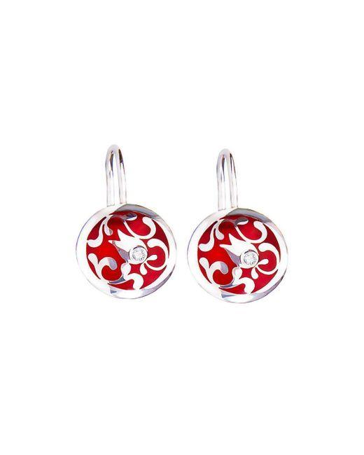 Diuss Fine Jewelry - Red Edua Little Moon Earring Cherry Diamond - Lyst