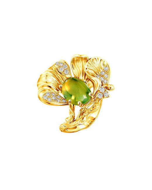 Chekotin Jewellery   Multicolor Yellow Flower Eden Ring   Lyst
