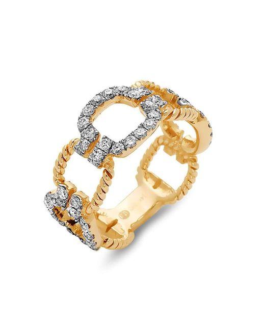 DILAMANI   Metallic Diamond Cushion Link Ring   Lyst
