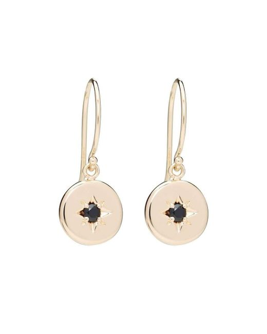 Alexis Kletjian   Metallic Lucky Star Black Diamond Dangle Earrings   Lyst
