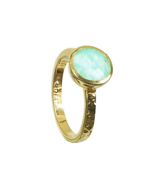 Neola - Metallic Stacking Gold Ring - Lyst