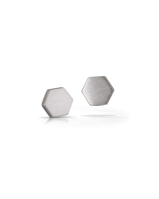 Ruthie Murray | Metallic Honeycomb Earrings Silver | Lyst