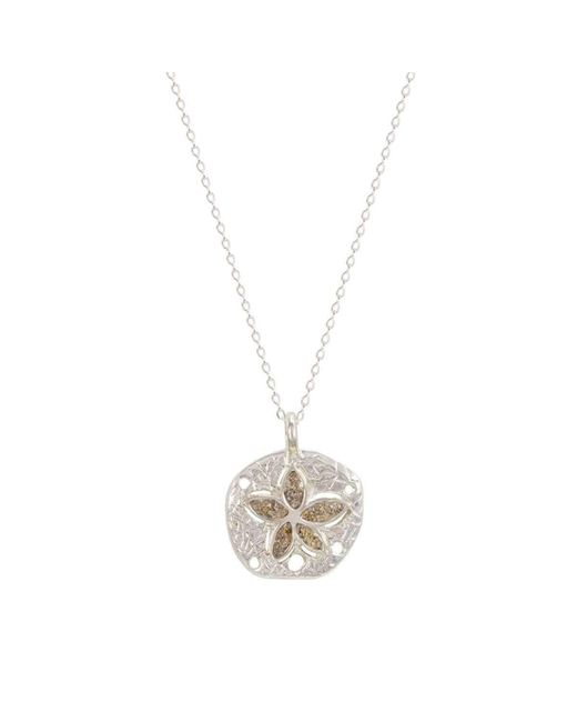 Dune Jewelry | Multicolor Petite Natural Sand Dollar Necklace | Lyst