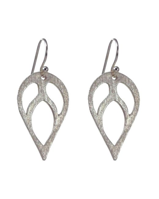 Sima Vaziry - Metallic Bloom Silver Earrings - Lyst