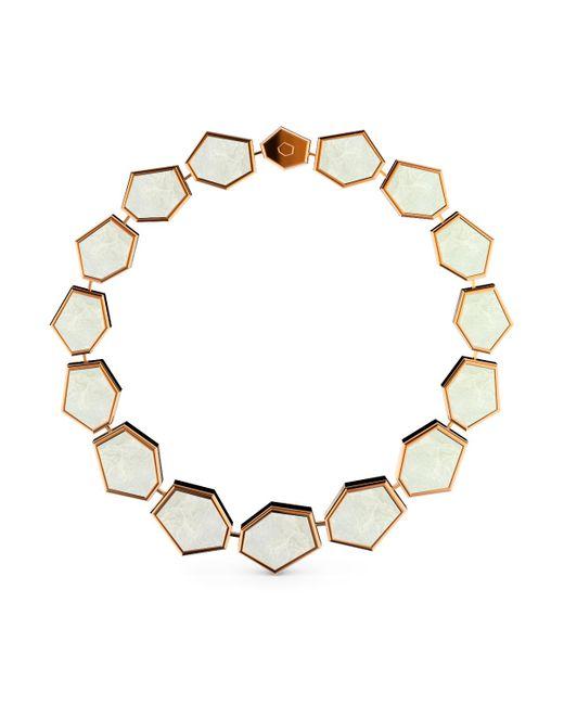 MARCELLO RICCIO - Metallic Rose Gold & Mother Of Pearl Bracelet - Lyst