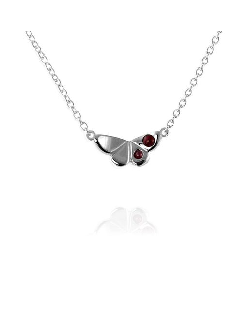 Jana Reinhardt Jewellery - Metallic Silver Butterfly Necklace With Ruby - Lyst
