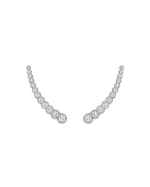 Penny Preville - Metallic 18kt White Gold Diamond Ear Climber Earrings - Lyst