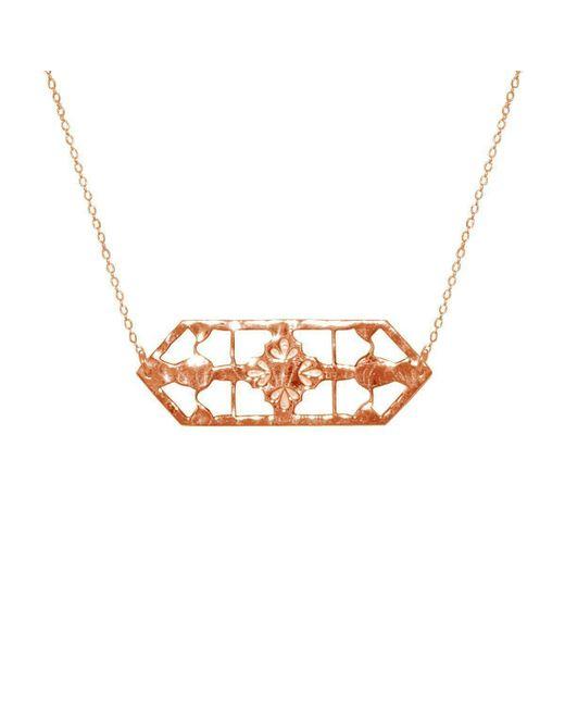 Murkani Jewellery - Metallic Rose Gold Vintage Treasure Necklace | - Lyst