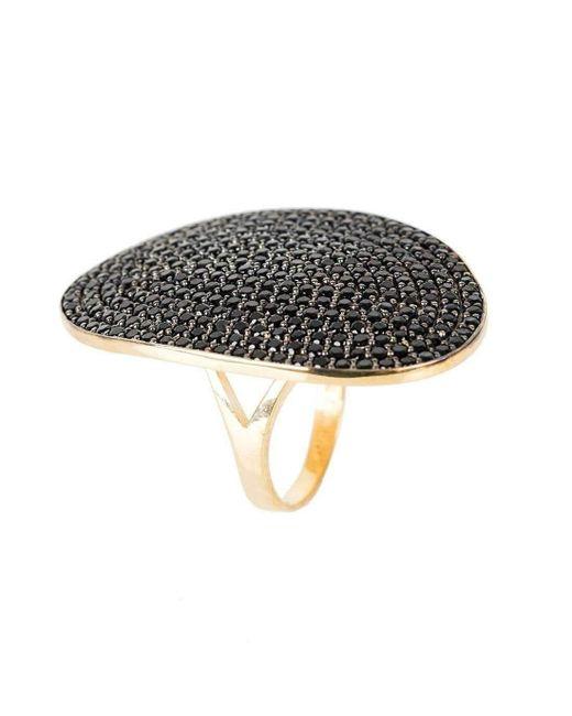 Latelita London St Tropez Ring Gold Black Zircon - UK P - US 7 1/2 - EU 56 1/2 GiAZ6