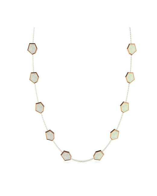 MARCELLO RICCIO - Metallic Gold & Mother Of Pearl Necklace - Lyst