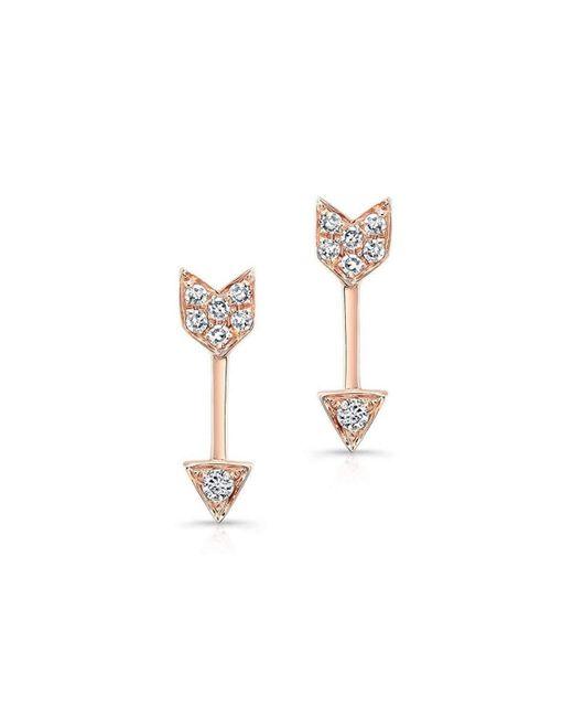 Anne Sisteron | Metallic Artemis Earrings Rose Gold | Lyst
