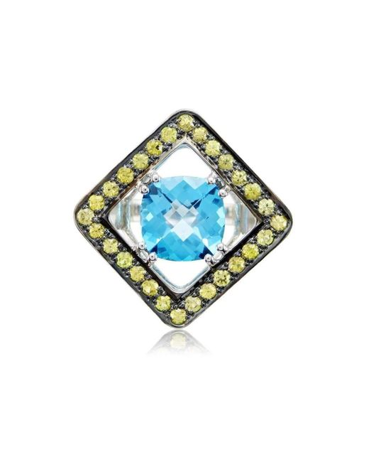 Cherie Thum - Expose Cushion Blue Topaz Cushion-shaped Ring - Lyst