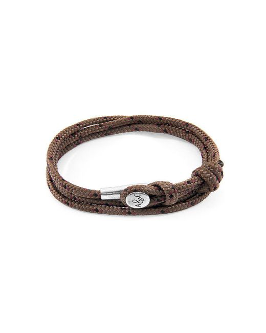 Anchor & Crew - Multicolor Brown Dundee Silver And Rope Bracelet - Lyst