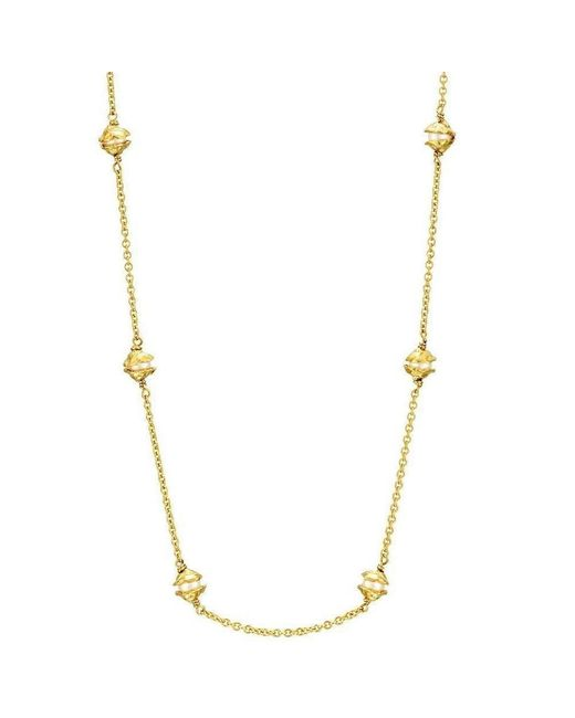 Joseph Lamsin Jewellery - Metallic Multi Pearl Gold Vermeil Encased Necklace - Lyst