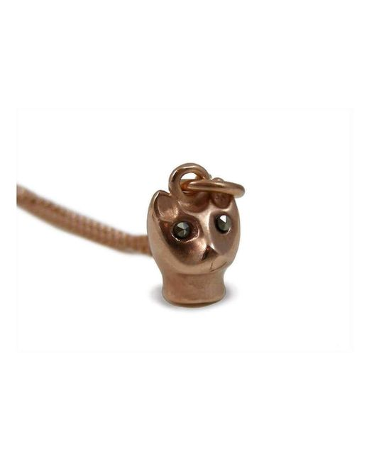 Vicky Davies - Metallic Sterling Silver & 18kt Rose Gold Cat Pendant Necklace - Lyst