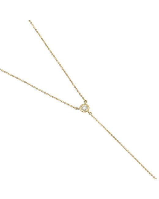 YRYS - Blue Diamond Tie Necklace - Lyst