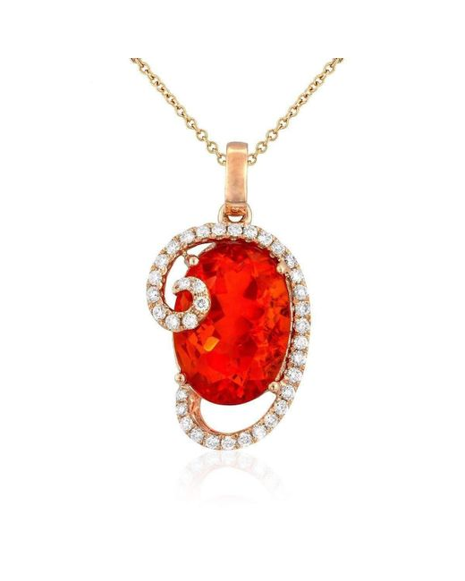 Yael Designs - Red Flare Necklace - Lyst