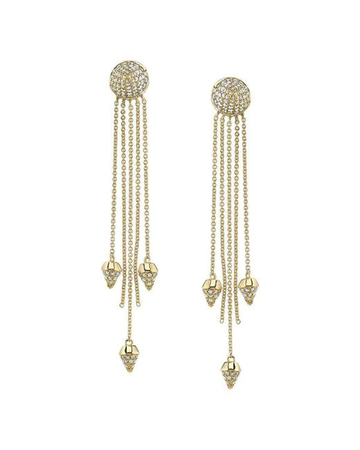 Borgioni - Metallic Spike Dangle Earrings - Lyst