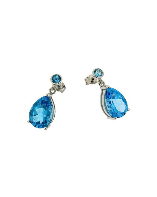 Will Bishop - White Gold & Blue Topaz Earrings - Lyst