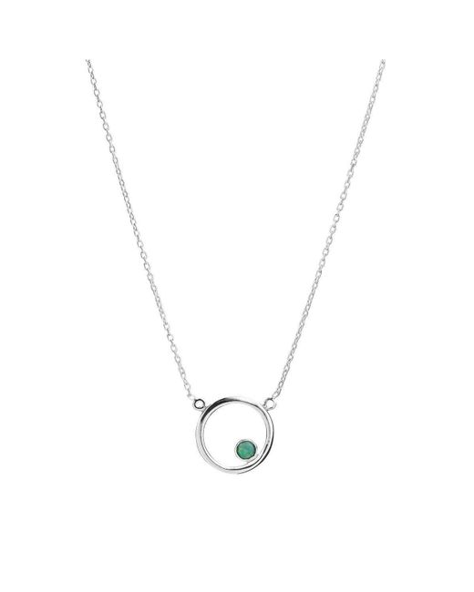 ICHU | Metallic Half Circle Opal Necklace | Lyst