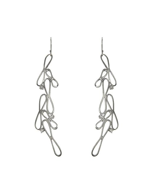 Botta Gioielli - Multicolor Long White Infinity Earrings - Lyst