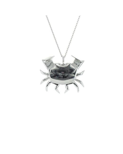 Origami Jewellery | Metallic Crab Silver Necklace | Lyst