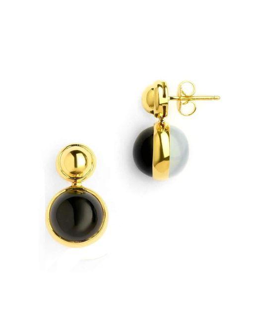 Syna 18kt Earrings With Black Onyx and Diamonds O1kn8x4mZQ