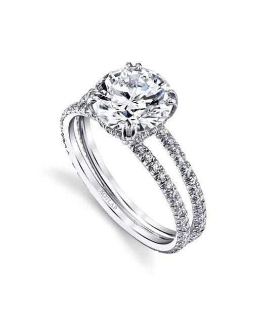 Harry Kotlar - Metallic Round Brilliant Arabesque Ring - Lyst