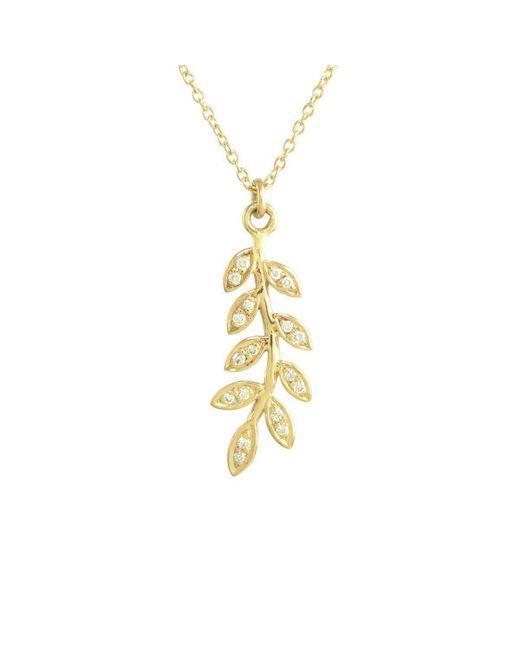 Joely Rae Jewelry - Metallic Yellow Gold Olive Diamond Necklace - Lyst