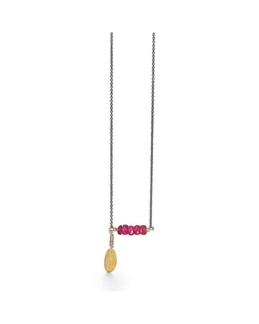 Bergsoe - Metallic Silver Leaf Necklace - Lyst