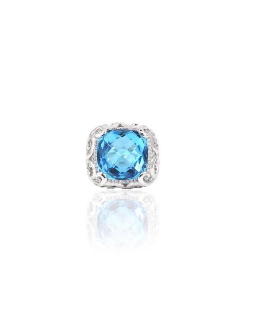 Estenza - Stella Blue Topaz Cocktail Ring - Lyst