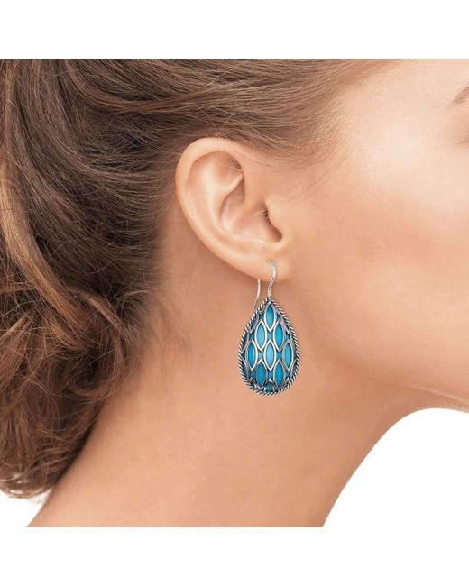 38e835026 ... HERA - Blue Pear Drop Theya Earrings - Lyst