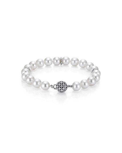 Isaac Westman - Metallic Freshwater Pearl And Diamond Bracelet - Lyst