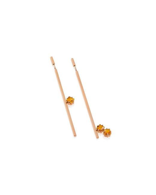 Myriamsos - Multicolor The Twin Orange Earrings - Lyst