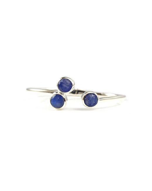 Lisa Robin - Blue Trilogy Cuff Bracelet In Sterling Silver With Lapis Lazuli And Moonstone Doublet - Lyst
