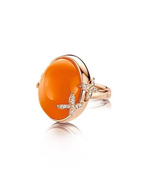 Baskania - Moonstone Orange Collection Ring - Lyst