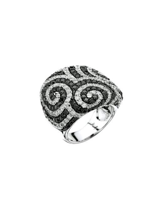 Pinomanna - Metallic White Gold & Diamond Optical Collection Ring | - Lyst