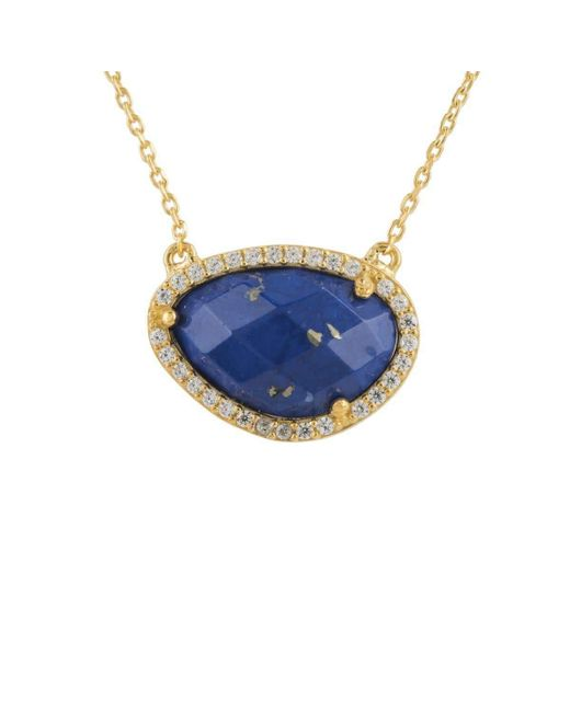 Latelita London - Multicolor Sofia Lapis Lazuli Gemstone Necklace Gold - Lyst
