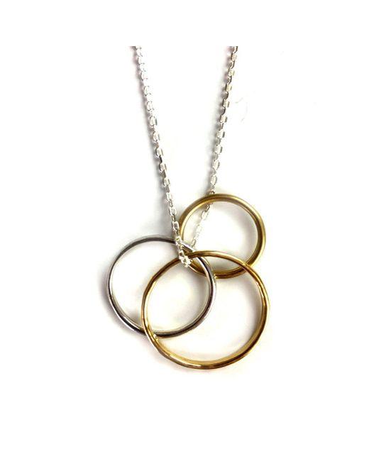 FRAN REGAN JEWELLERY - Metallic Pendant 1 Silver Loop, 2 Vermeil Loops On Silver Chain - Lyst